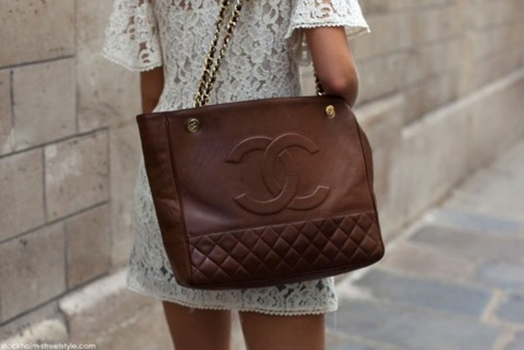 bag brown bag shoulder bag chanel bag women bag chanel