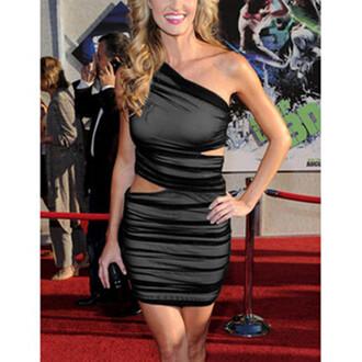 black bag black dress slim dress sexy dress celibrity