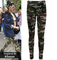 Camouflage army print leggings