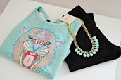 sweater,mint,sweetshot,blue,paste blue,pastel,tiger,kenzo,kenzo sweater,necklace,black,sweatshirt,shirt,winter outfits,winter sweater