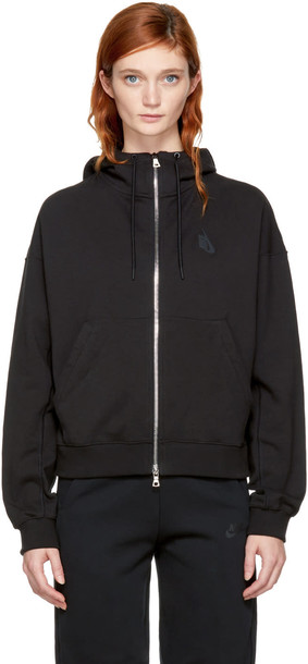 Nikelab hoodie zip black sweater