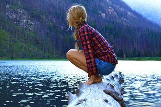 shirt flannel shirt camping weekend escape