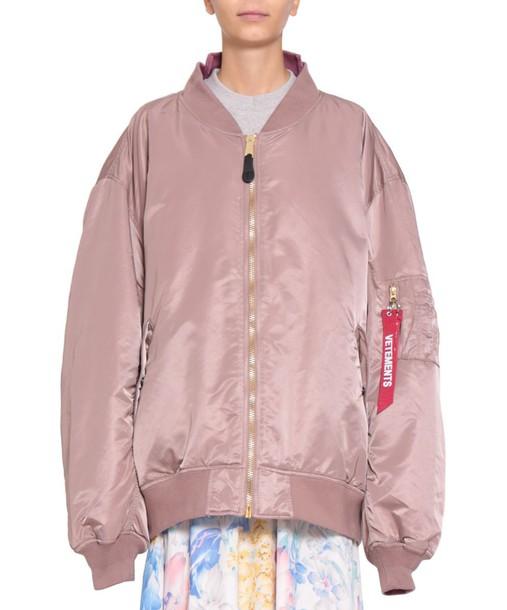 Vetements jacket bomber jacket oversized