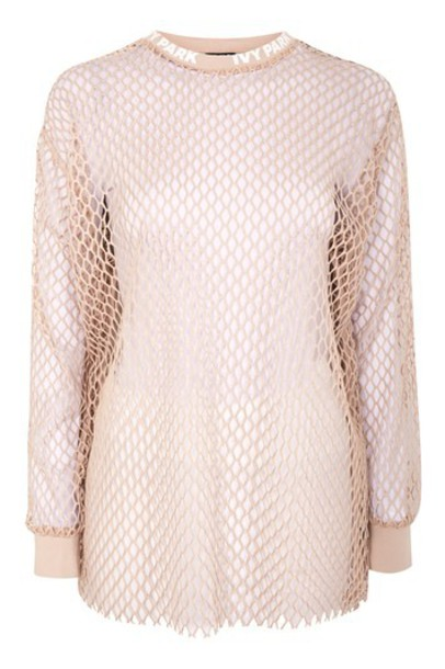 t-shirt shirt t-shirt long mesh taupe top