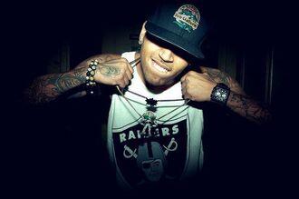 celebrity chris brown swag urban menswear mens t-shirt
