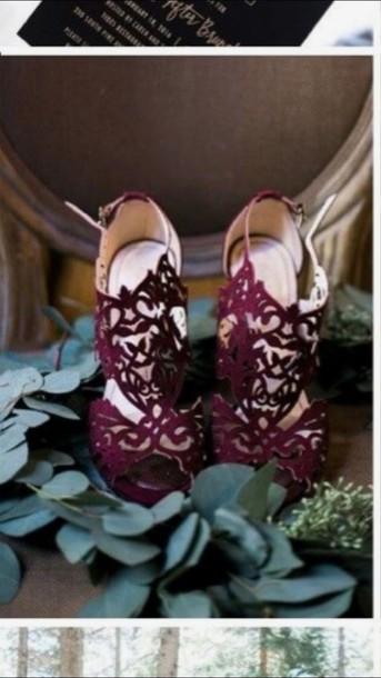 7737d46e2169 shoes high heels wedding wedding shoes burgundy