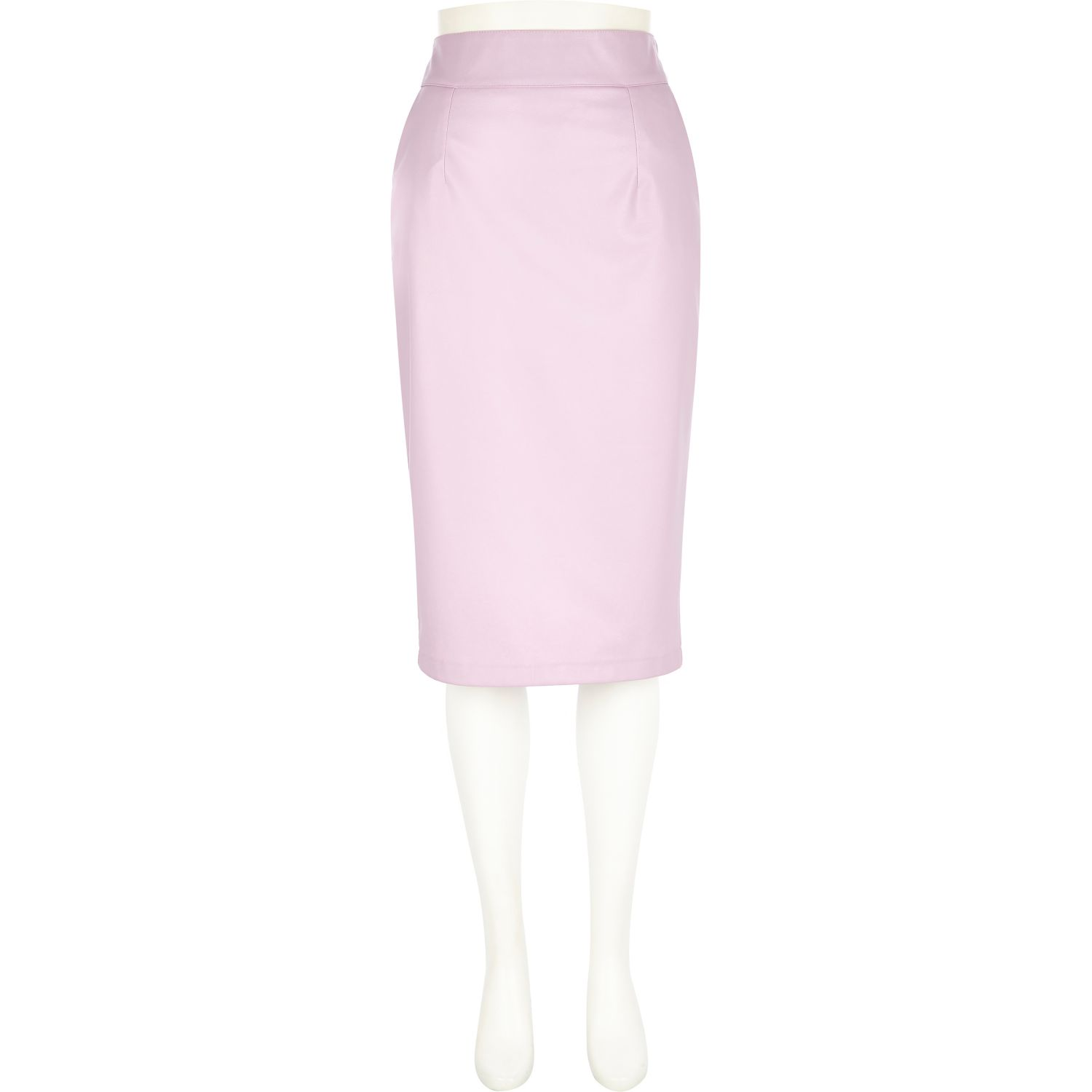 pink leather-look pencil skirt - tube / pencil skirts - skirts - women