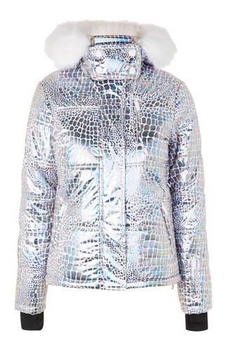 jacket puffer jacket metallic