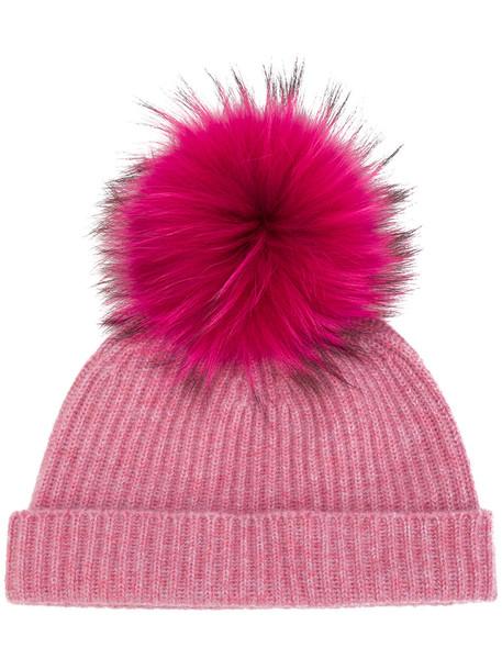 hat beanie purple pink