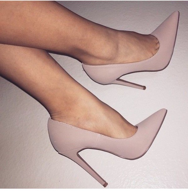 shoes nude heels pointed toe blush pointed toe heels wheretoget. Black Bedroom Furniture Sets. Home Design Ideas