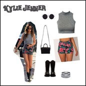 shorts,watermelon print,watermelon shorts,kylie jenner,top