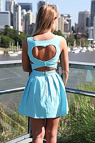 HEART CUT OUT DRESS , DRESSES, TOPS, BOTTOMS, JACKETS & JUMPERS, ACCESSORIES, SALE, PRE ORDER, NEW ARRIVALS, PLAYSUIT, COLOUR,,Blue,CUT OUT,BACKLESS Australia, Queensland, Brisbane