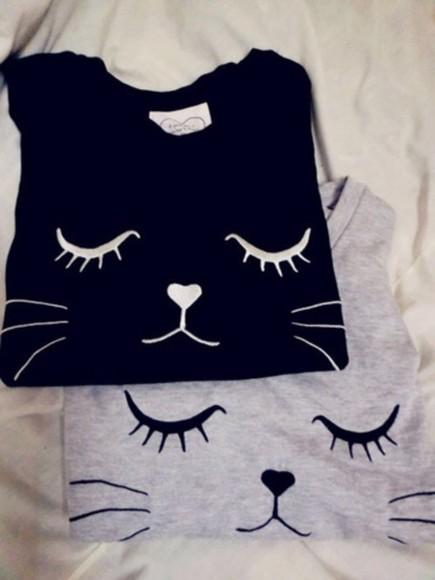 sweater cat sweater cats cat eye black cat sweater whiskers jemper