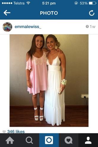 dress lace formal white dress