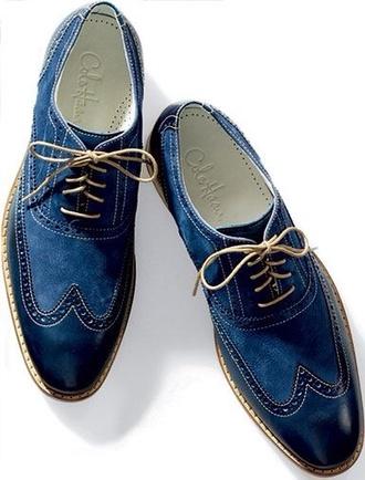shoes mens shoes blue classic