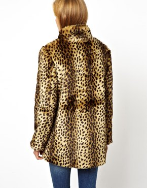 ASOS | ASOS Longline Animal Faux Fur Coat. at ASOS