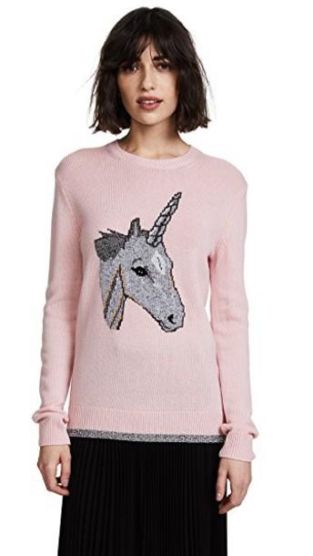 coach sweater pink