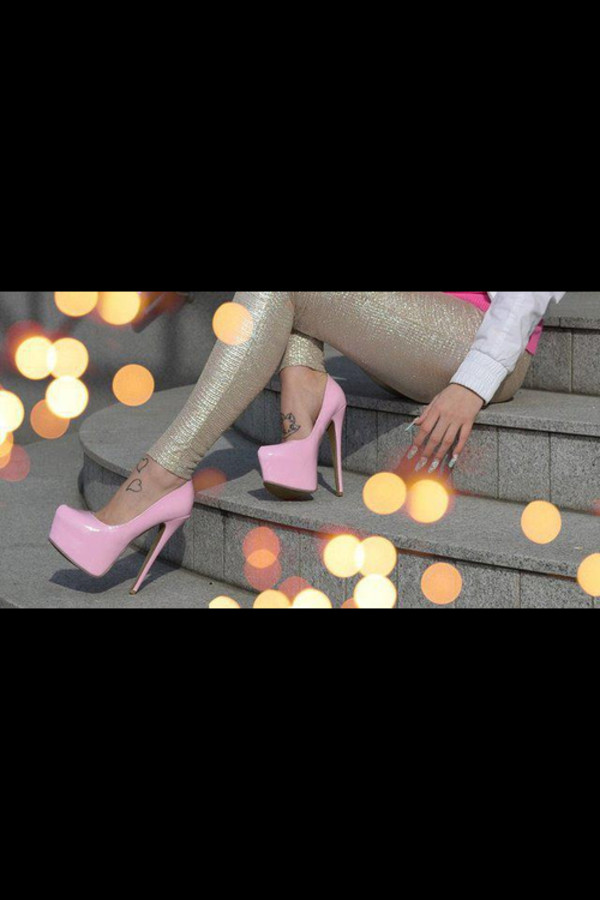 shoes pink heels pure pink
