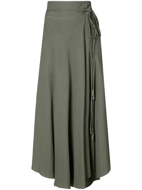Apiece Apart skirt wrap skirt women green