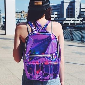bag beautiful pretty backpack holographic fashion