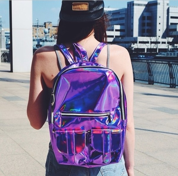 bag holographic beautiful pretty backpack holographic fashion