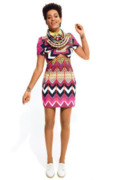 dress vibrant african print solange knowles pattern