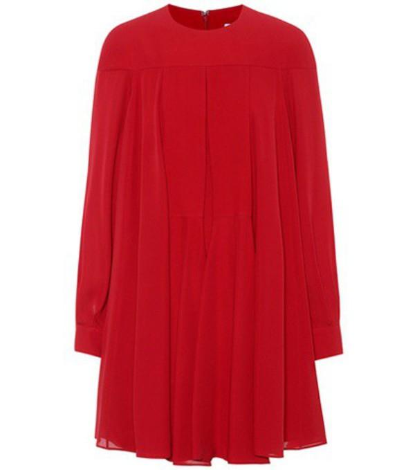 Valentino Silk crêpe minidress in red