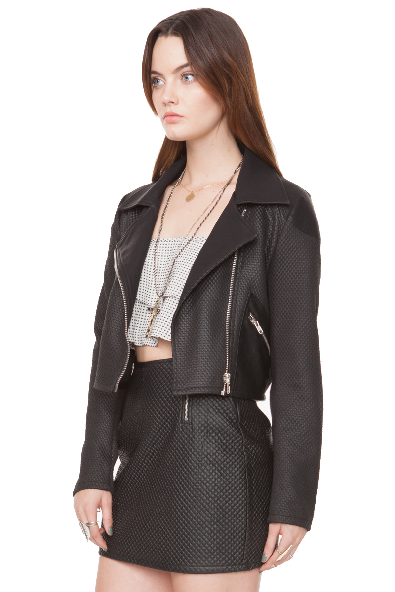 Zip lining black jacket · trendyish · online store powered by storenvy