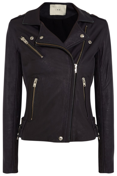 Tara leather biker jacket