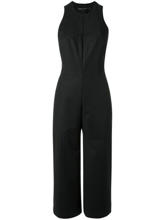 jumpsuit sleeveless women spandex cotton black