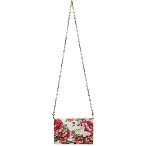 Dolce and Gabbana Dolce & Gabbana Pink Peonies Logo Wallet Chain Bag