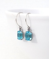 jewels,festive By Nature,jewelry,boho,earrings,dangle earrings,aqua,aqua earrings,etsy,gift ideas