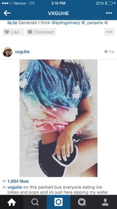 top,t-shirt,hype,cute,colorful,amazing,galaxy print,swag,fit,skinny,girl,style,fashion,shorts