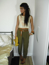 pants,boho chic,crop tops,high waisted,summer,tank top