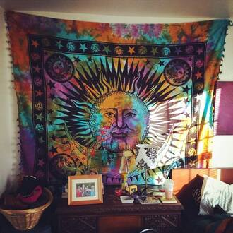 home accessory tapestry psychedelic tapestries mandala magical night star mandala tapestry wall tapestry dorm tapestry hindu tapestry indian goddess tapestry wall hanging tapestry sun and moon tapestry