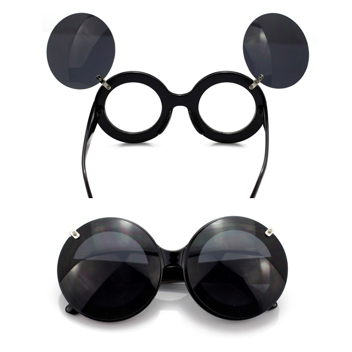 Oversized mickey flip glasses