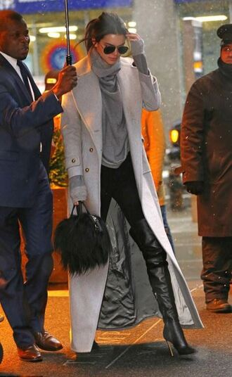 shoes boots over the knee boots coat sweater kendall jenner purse