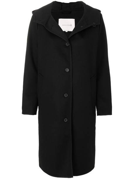 Mackintosh coat women black wool