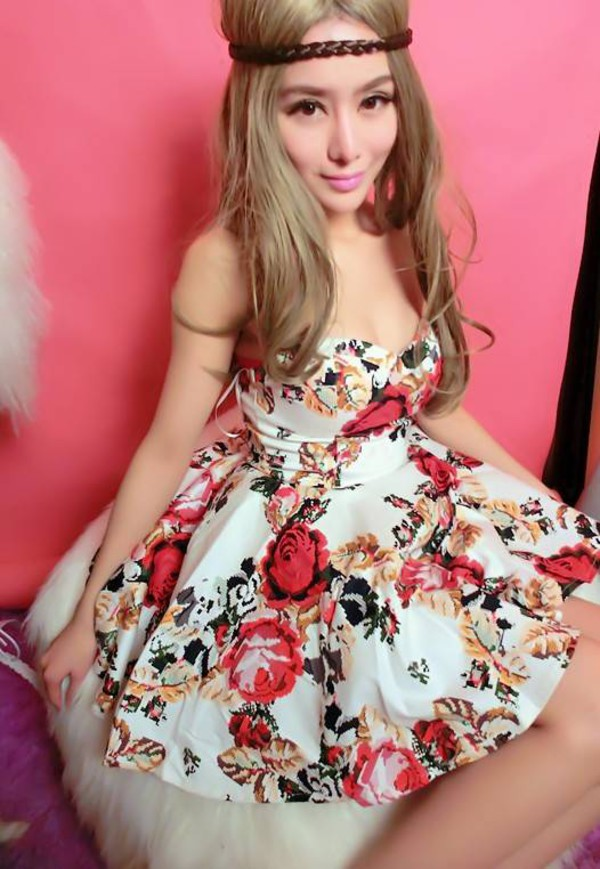 dress floral floral dress girl pretty