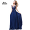 Aliexpress.com : buy ann deer 2016 hot sale a line chiffon appliques beading long evening dress gown royal blue formal dresses robe de soiree d111 from reliable dress pakistan suppliers on ann deer