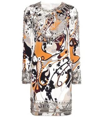 dress silk dress embellished silk