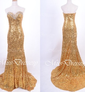 dress prom dress mermaid prom dresses gold sequins sparkly dress prom