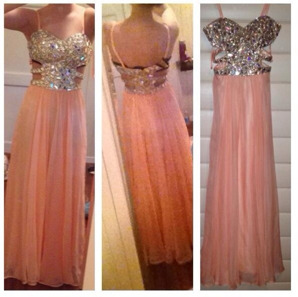 dress pink dress diamonds