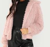 jacket,girly,girl,girly wishlist,pink,teddy jacket,zip-up,zip up jacket,zip,cute