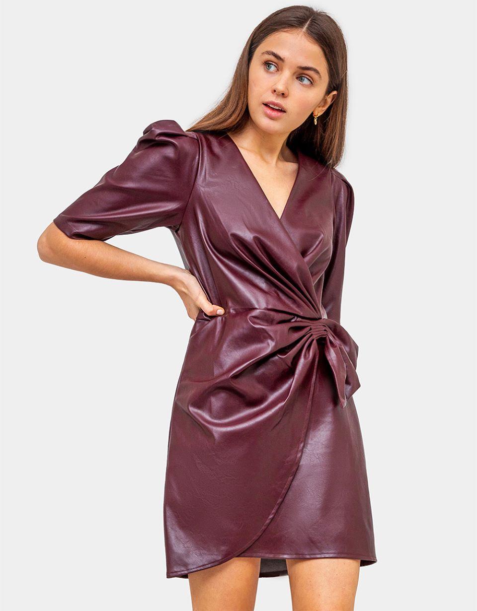 Alaina Faux Leather Dress