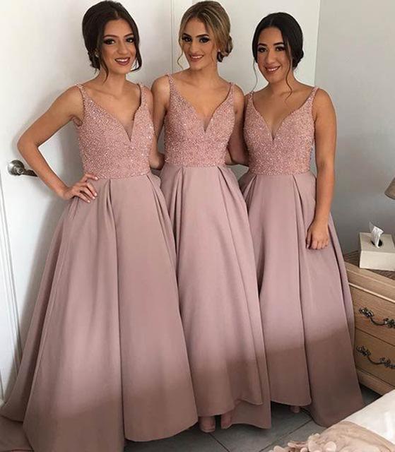 Aliexpress.com : Buy Glamorous Light Pink Blush Bridesmaid Dresses ...