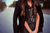 jacket,edgy,leather jacket,model,black,rock,dress,jewels