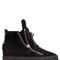 50mm shearling & suede wedge sneakers