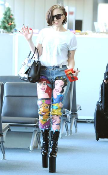lady gaga jeans jeans disney celebrity style