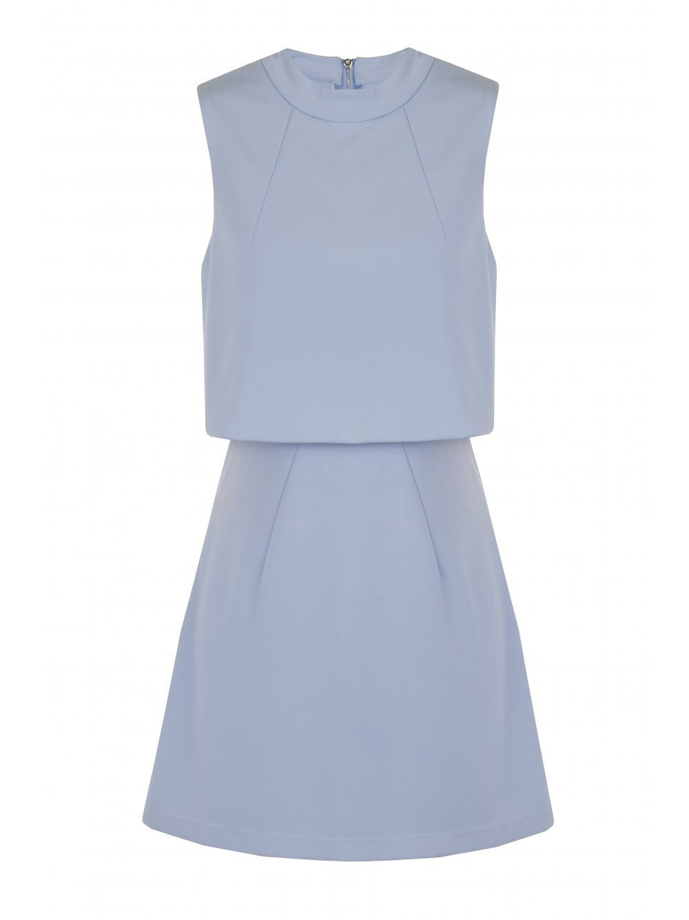 Powder Blue Cropped Mini Dress - from Lavish Alice UK